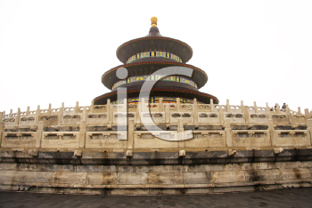 Royalty Free Photo of a Hall of Prayer for Good Harvests inBeijing, China