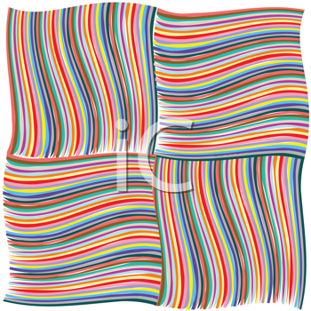 Royalty Free Clipart Image of Woven Striped Background