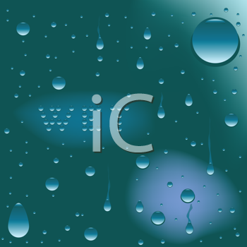 Royalty Free Clipart Image of a Wet Background With the Word Wet
