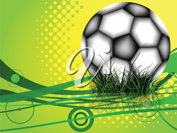 soccer ball background, abstract vector art illustration; image contains transparency and gradient mesh