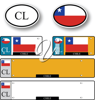 chile auto set against white background, abstract vector art illustration, image contains transparency