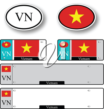vietnam auto set against white background, abstract vector art illustration, image contains transparency