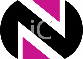 Royalty Free Clipart Image of an N