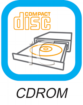 Royalty Free Clipart Image of a CD/ROM