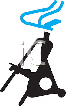 Royalty Free Clipart Image of an Step Machine