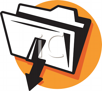 Royalty Free Clipart Image of a File