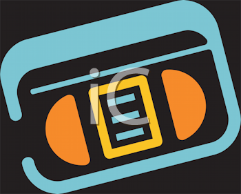 Royalty Free Clipart Image of a Cassette