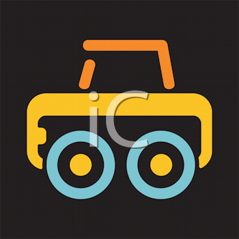 Royalty Free Clipart Image of a Vehicle