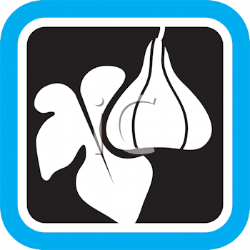 Royalty Free Clipart Image of Figs