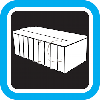 Royalty Free Clipart Image of a Bin