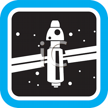 Royalty Free Clipart Image of a Space Station