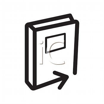 Royalty Free Clipart Image of a Book