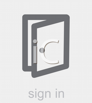 Royalty Free Clipart Image of a Sign In Icon