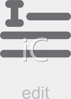 Royalty Free Clipart Image of an Edit Icon