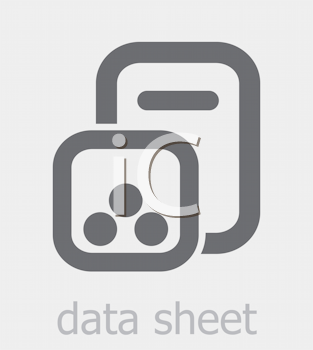 Royalty Free Clipart Image of a Data Sheet