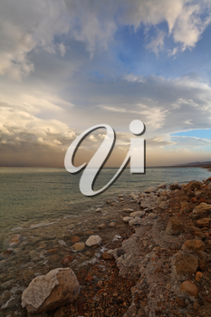 Royalty Free Photo of the Dead Sea in Israel