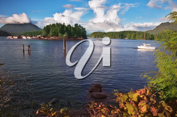 Royalty Free Photo of a Gulf in Vancouver Island