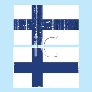 Royalty Free Clipart Image of a Finnish Flag