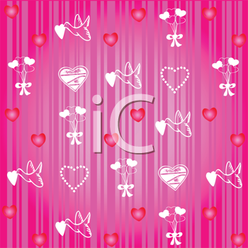 Royalty Free Clipart Image of a Valentine Pattern
