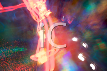 Royalty Free Photo of a Blurred Lighted and Coloured Background