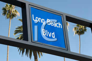 Royalty Free Photo of a Long Beach Boulevard Sign