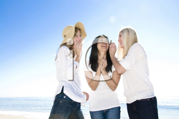 Royalty Free Photo of Women Smiling and Laughing