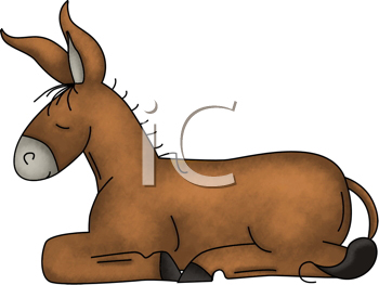 Royalty Free Clipart Image of a Donkey