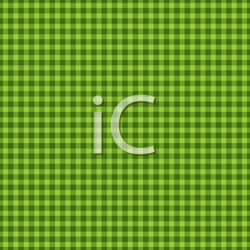 Royalty Free Clipart Image of a Checked Green Background