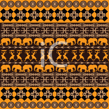 Royalty Free Clipart Image of an African Background