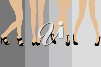 Set of advertisement concepts for stockings