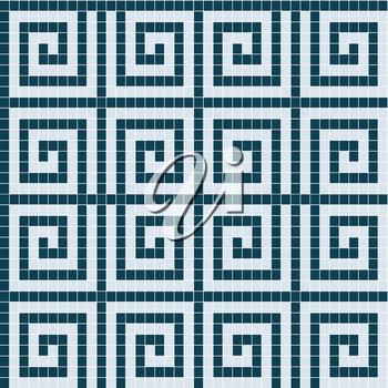 Mosaic tiles texture background with geometric motifs