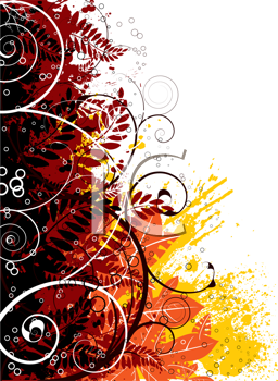Royalty Free Clipart Image of Autumn Colours