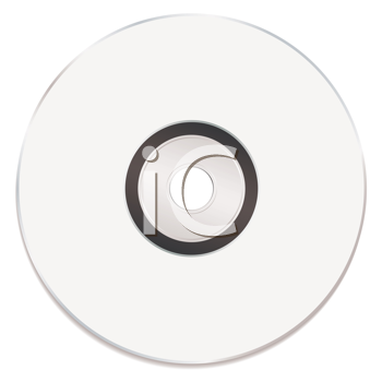 Royalty Free Clipart Image of a Blank CD