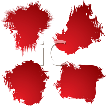 Royalty Free Clipart Image of Four Red Stains