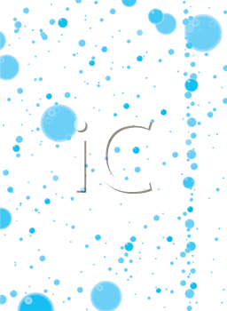 Royalty Free Clipart Image of a White Background With Blue Bubbles