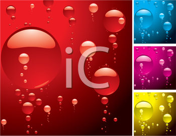 Royalty Free Clipart Image of Bubble Backgrounds