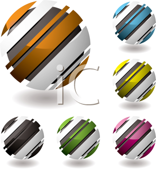 Royalty Free Clipart Image of Striated Balls