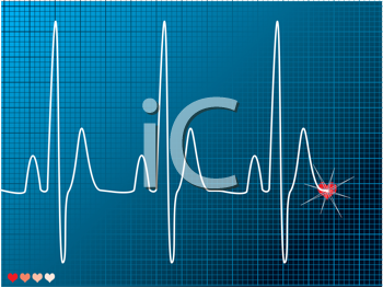 Royalty Free Clipart Image of a Heart Monitor