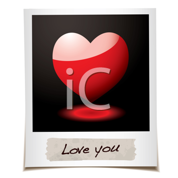 Royalty Free Clipart Image of a Heart Message