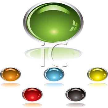 Royalty Free Clipart Image of a Gel Buttons