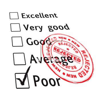 Royalty Free Clipart Image of a Poor Evaluation