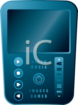 Royalty Free Clipart Image of a Portable Media Player
