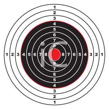 Royalty Free Clipart Image of a Target