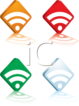 Royalty Free Clipart Image of Four Diamond