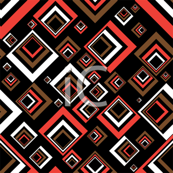 Royalty Free Clipart Image of a Retro Squares Background