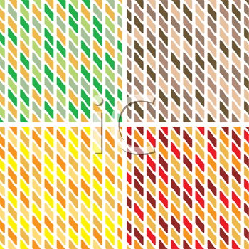 Royalty Free Clipart Image of Four Abstract Tiles