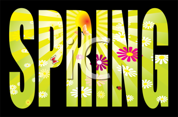 Royalty Free Clipart Image of a Spring Text