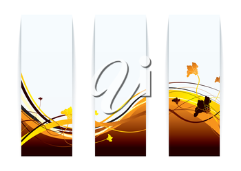 Modern floral background with bright orange autumn colours