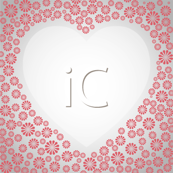 Royalty Free Clipart Image of a Floral Heart Design