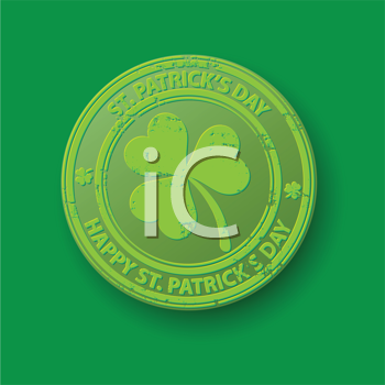 Royalty Free Clipart Image of a St.Patrick's Day Stamp